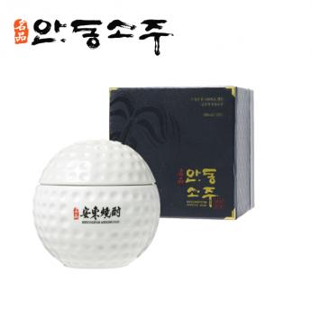 명품 안동소주 고급 선물세트 골프공 45도 400ml 1병