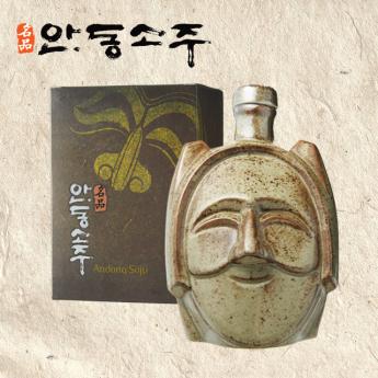 명품 안동소주 45도 선물용 부네탈 소형 200ml